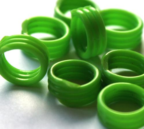 Spiralringe 10 mm hellgrün 10 Stück