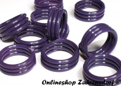 Spiralringe 10 mm lila 10 Stück