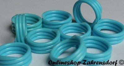 Spiralringe 10 mm hellblau 10 Stück