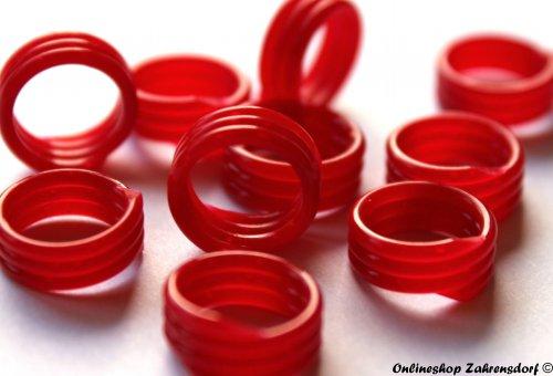 Spiralringe 14 mm rot 10 Stück