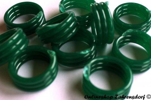 Spiralringe 18 mm dunkelgrün 10 Stück