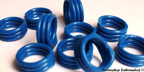 Spiralringe 22 mm dunkelblau 10 Stück