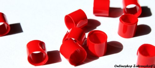 Bandringe 5 mm rot 10 Stück