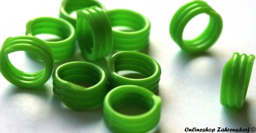 Spiralringe 8 mm hellgrün 10 Stück