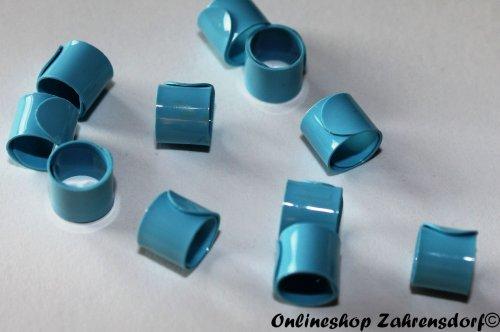 Bandringe 5 mm hellblau 10 Stück