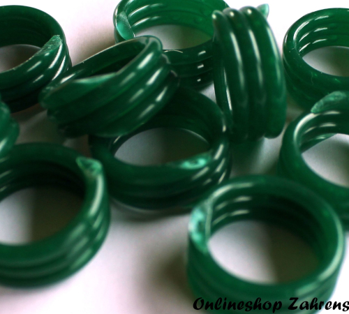Spiralringe 24 mm dunkelgrün 10 Stück
