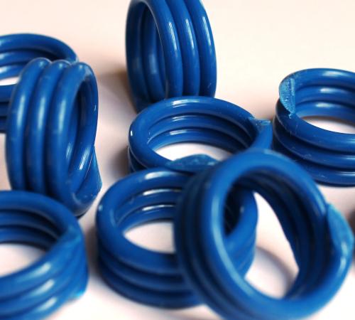 Spiralringe 10 mm dunkelblau 10 Stück
