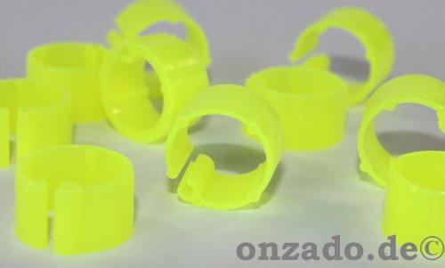 Clipsringe leuchtend gelb 10 mm 10 Stück