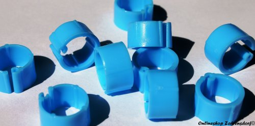 Clipsringe hellblau 10 mm 10 Stück