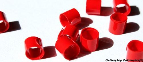 Bandringe 6 mm rot 10 Stück