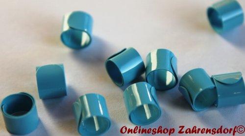 Bandringe 6 mm hellblau 10 Stück