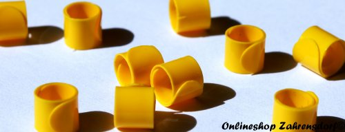 Bandringe 6 mm gelb 10 Stück