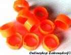 Clipsringe leuchtend orange 14 mm 10 Stück