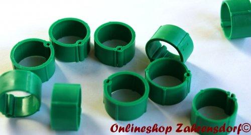 Clipsringe dunkelgrün 14 mm 10 Stück