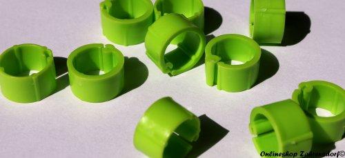 Clipsringe hellgrün 14 mm 10 Stück