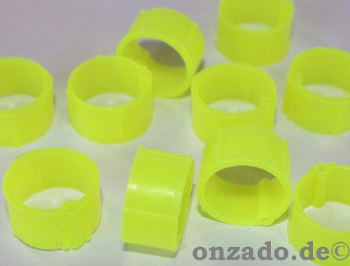 Clipsringe leuchtend gelb 14 mm 10 Stück