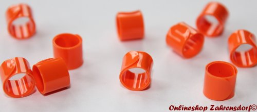 Bandringe 6 mm orange 10 Stück