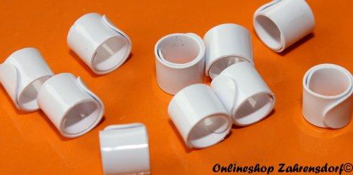 Bandringe 5 mm weiß  10 Stück