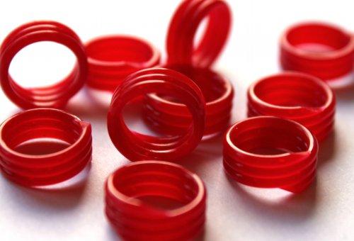 Spiralringe 22 mm rot 10 Stück