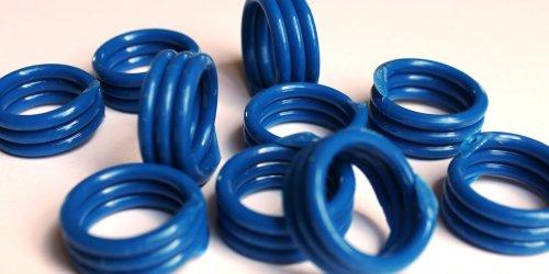 Spiralringe 14 mm dunkelblau 10 Stück
