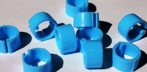 Clipsringe hellblau 07 mm 10 Stück