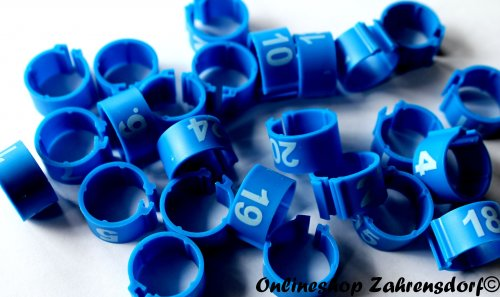 Clipsringe 16 mm nummeriert 1-25 dunkelblau 25 Stück