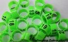 Clipsringe 16 mm nummeriert 1-25 leuchtend grün 25 Stück