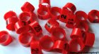 Clipsringe 08 mm nummeriert 1 - 25 rot 25 Stück