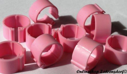 Clipsringe rosa 08 mm 10 Stück