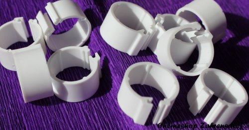 Clipsringe weiß 08 mm 10 Stück