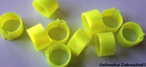 Clipsringe neongelb 12 mm 10 Stück