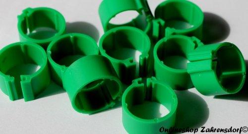 Clipsringe dunkelgrün 12 mm 10 Stück