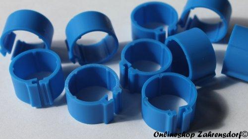 Clipsringe dunkelblau 12 mm 10 Stück