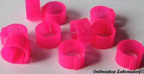 Clipsringe leuchtend pink 12 mm 10 Stück