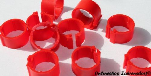 Clipsringe 16 mm rot 10 Stück