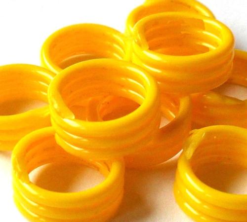 Spiralringe 22 mm gelb 10 Stück