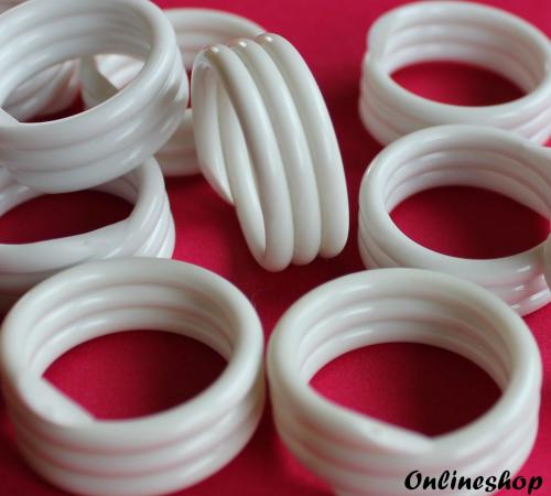 Spiralringe 18 mm weiß 10 Stück