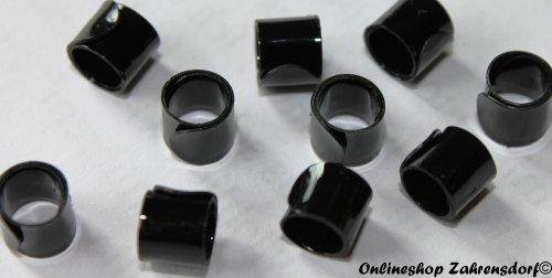 Bandringe 5 mm schwarz 10 Stück