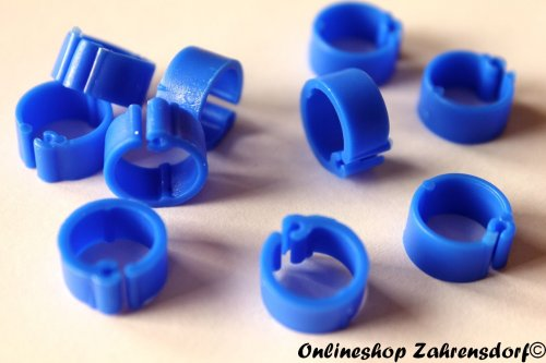 Clipsringe dunkelblau 07 mm 10 Stück