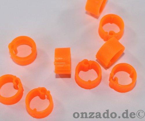 Clipsringe leuchtorange 07 mm 10 Stück