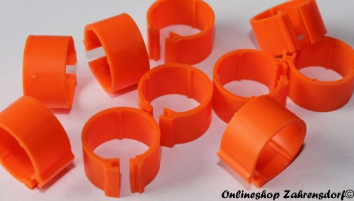 Clipsringe orange 08 mm 10 Stück