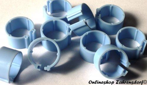 Clipsringe hellblau 08 mm 10 Stück
