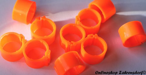 Clipsringe leuchtorange 08 mm 10 Stück