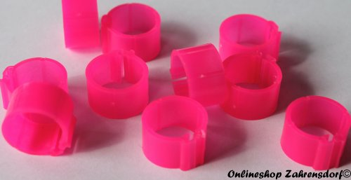 Clipsringe leuchtend pink 08 mm 10 Stück