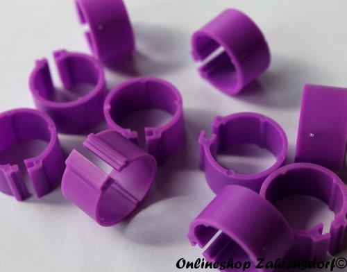 Clipsringe 16 mm lila 10 Stück