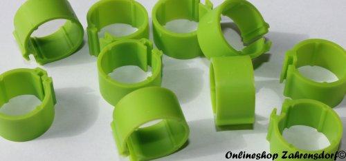 Clipsringe 16 mm grasgrün 10 Stück