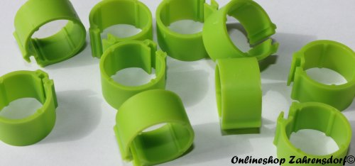 Clipsringe grasgrün 12 mm 10 Stück
