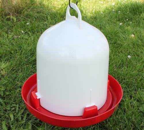 Kunststofftränke -  6 l  für Hühner, Enten, Gänse