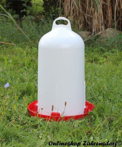 Kunststofftränke -  12 l  für Hühner, Enten, Gänse, Puten ...