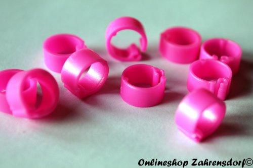 Clipsringe pink 14 mm 10 Stück
